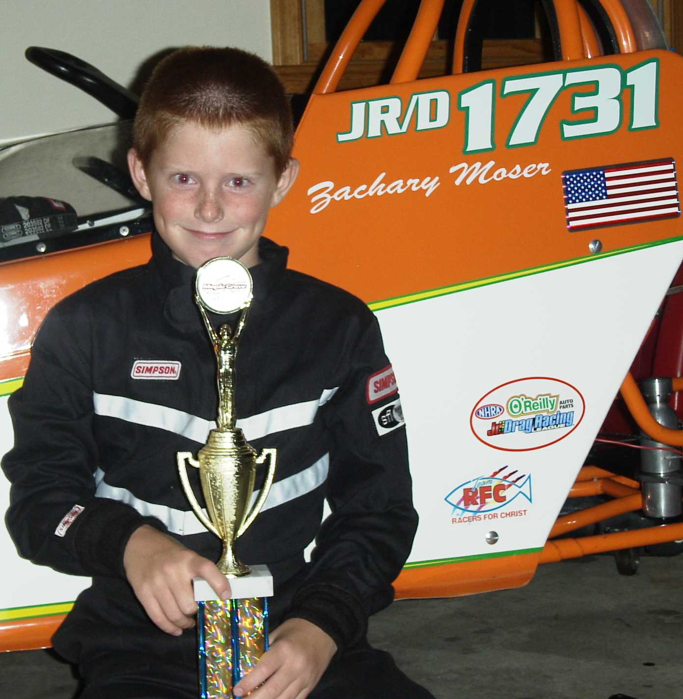 Jr Dragster racers from